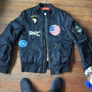 Vintage patch bomber